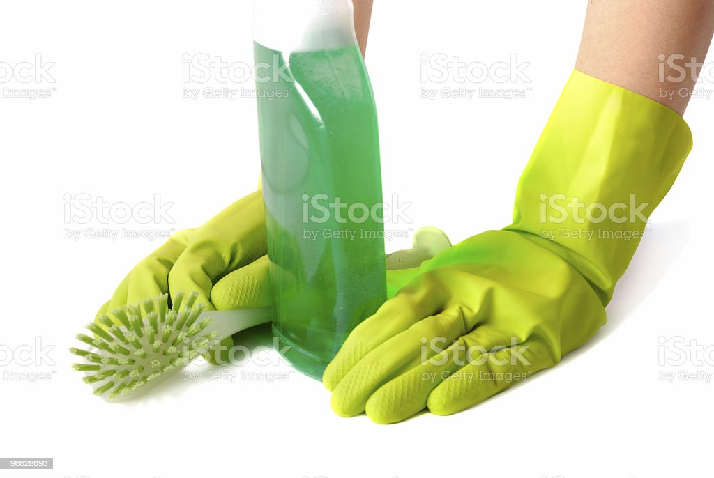 Pause Of Housekeeper royalty-free stock photo