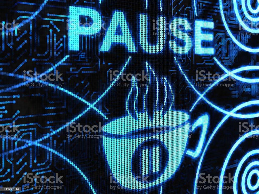 pause royalty-free stock photo