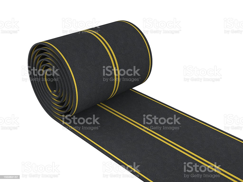 Pave the road royalty-free stock photo