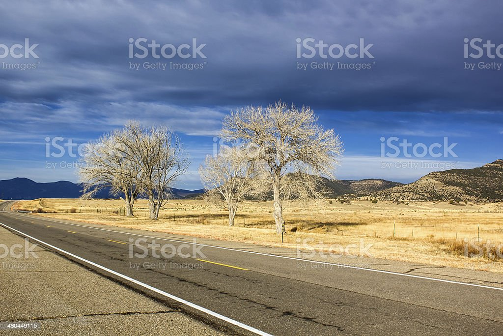 Paved highway royalty-free stock photo
