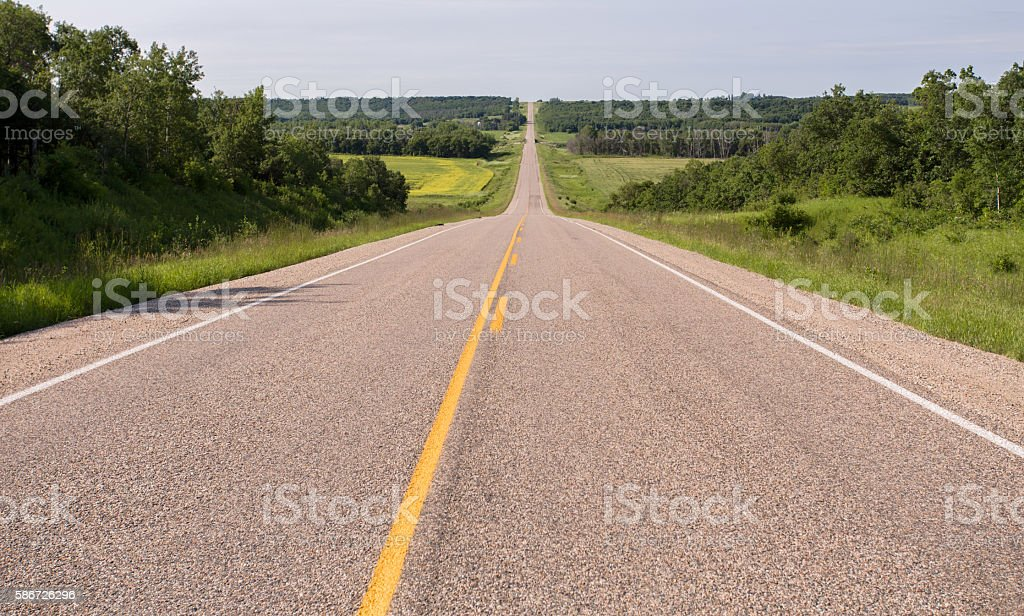 paved highway stock photo