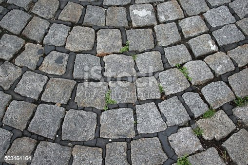 Close-up of a part of a pavement in the street