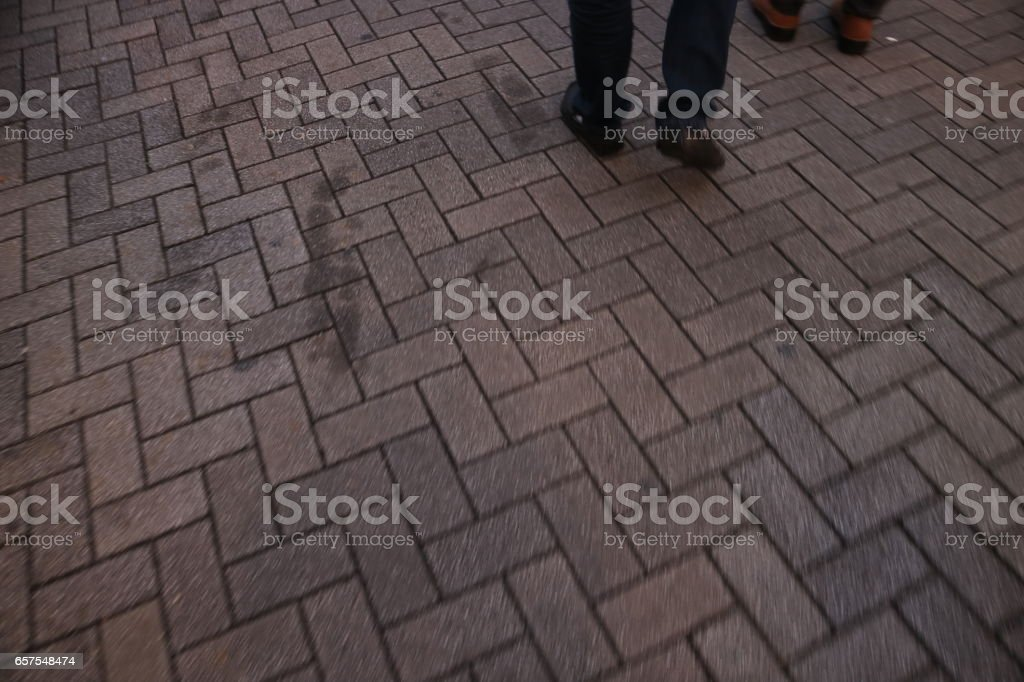 Pavement brick in japan stock photo