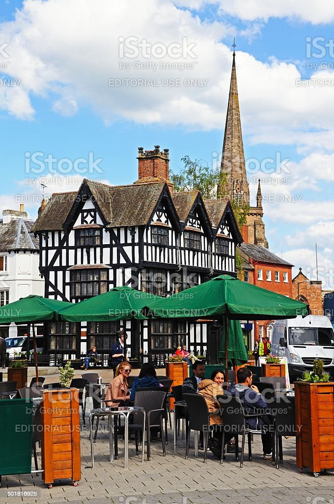 Pavement cafe, Hereford. stock photo
