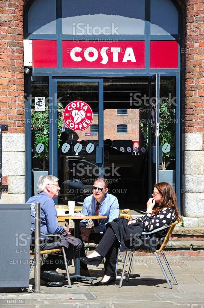 Pavement Cafe, Liverpool. stock photo