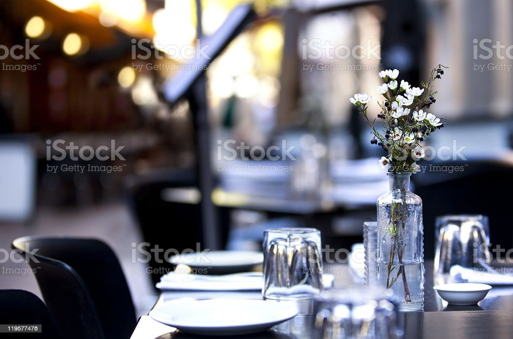 Pavement Cafe stock photo