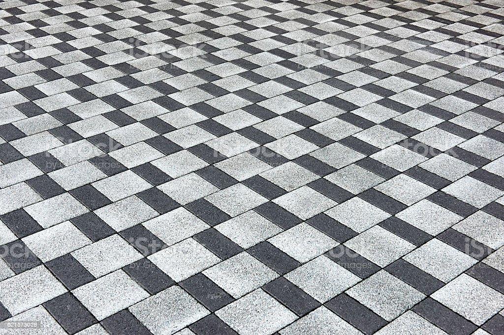 Pavé de béton bitume motif à carreaux photo libre de droits