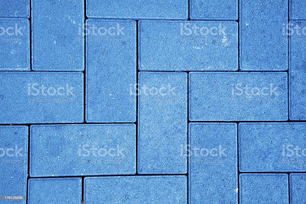 pavement pattern made with cast concrete blocks royalty-free stock photo