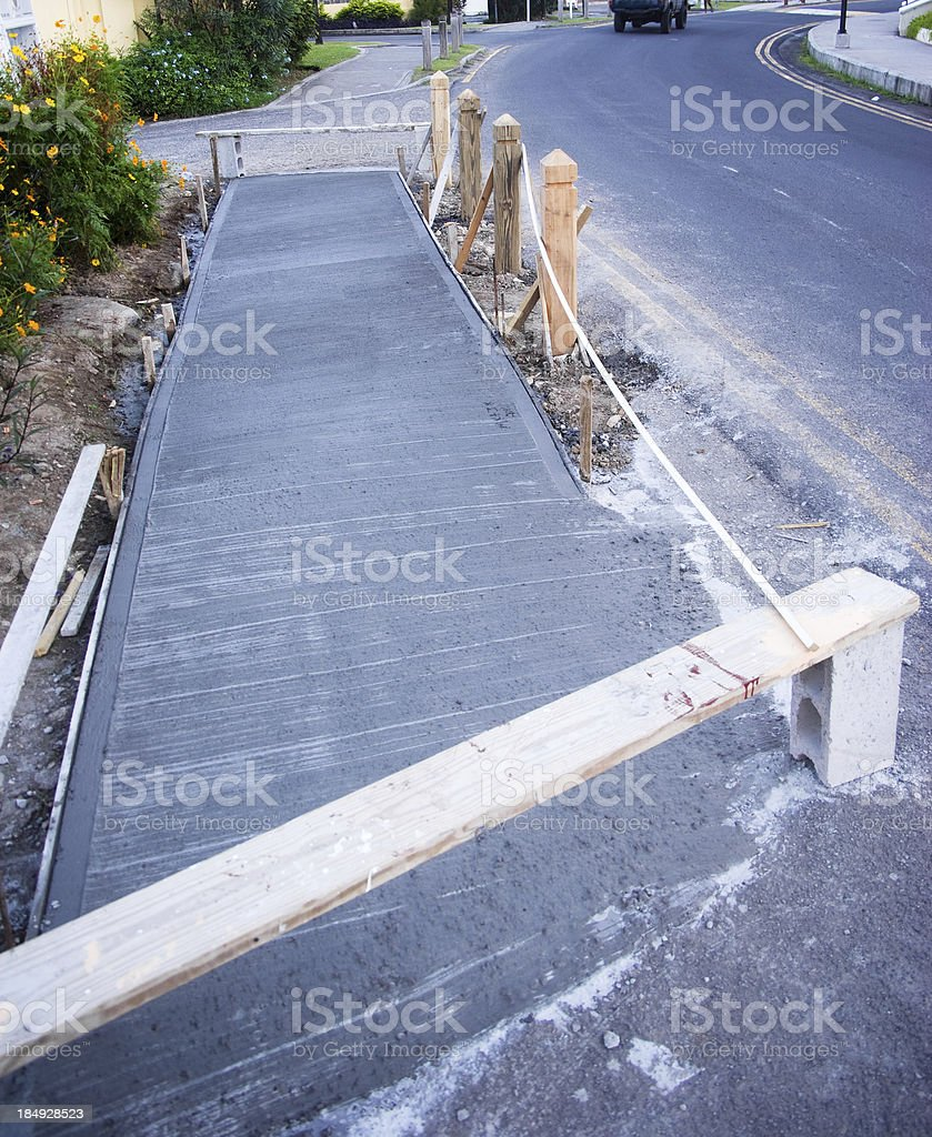 pavement sidewalk under construction royalty-free stock photo