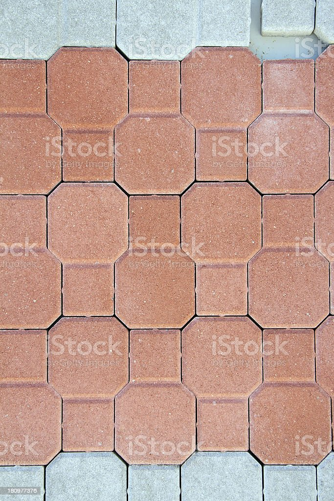 pavement with bricks royalty-free stock photo