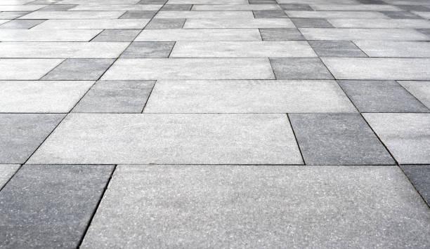 Paver bricks floor texture stock photo