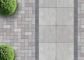 paver bricks from above