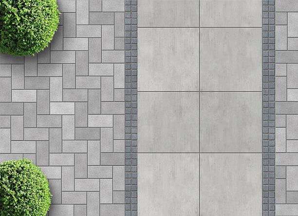 上から paver ブリック - 歩道 ストックフォトと画像