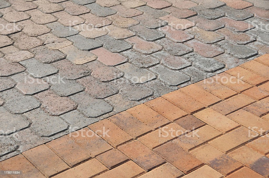 Paver Divide stock photo