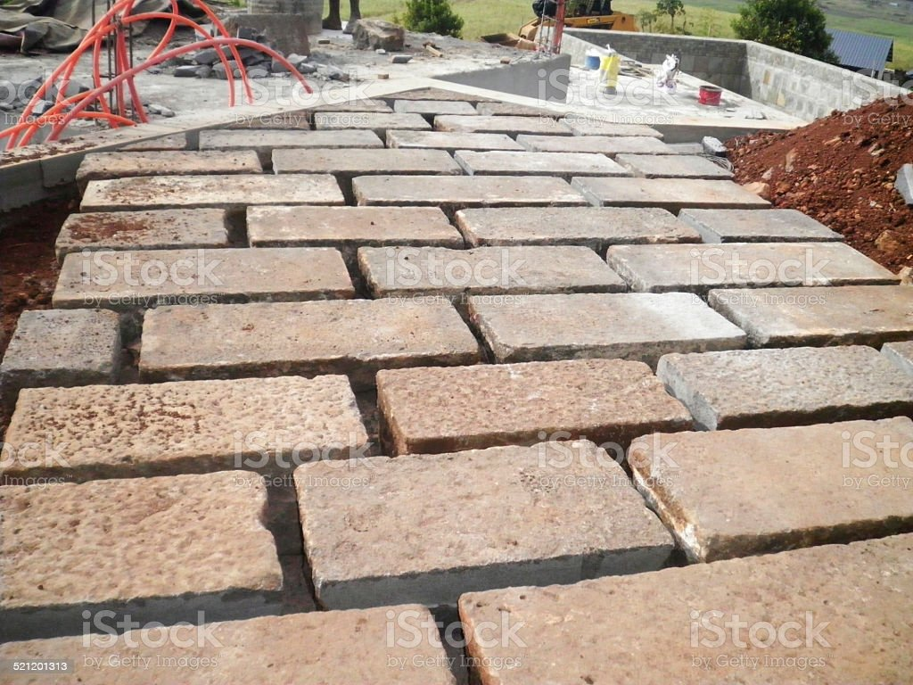 paver flooring stock photo