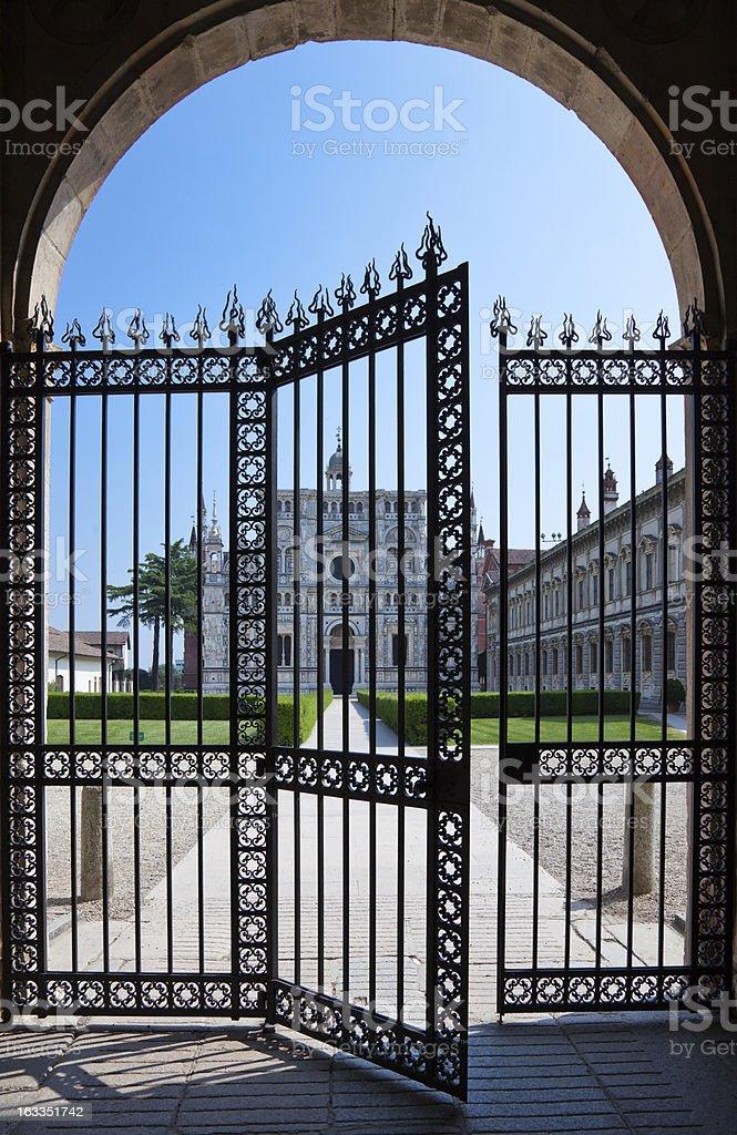 Pavia, La Certosa stock photo