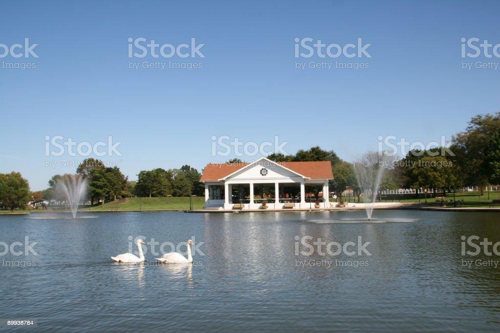 Pavilion At The Lake 3 royalty-free stock photo