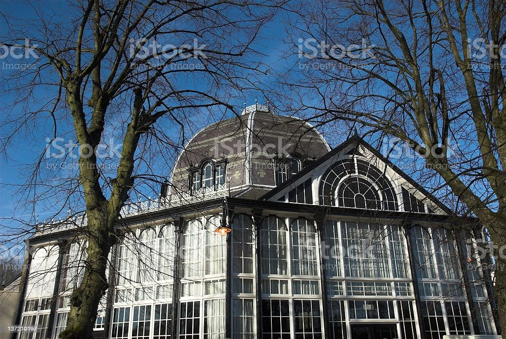 Pavilion Gardens Buxton royalty-free stock photo