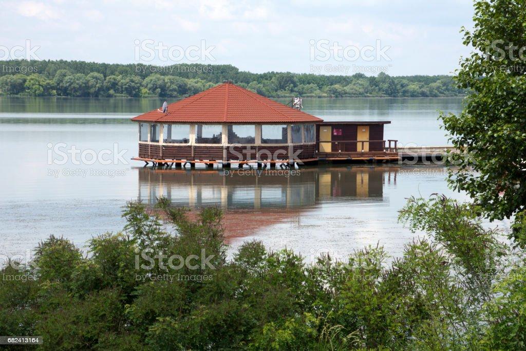 Pavilion in lake royalty-free stock photo