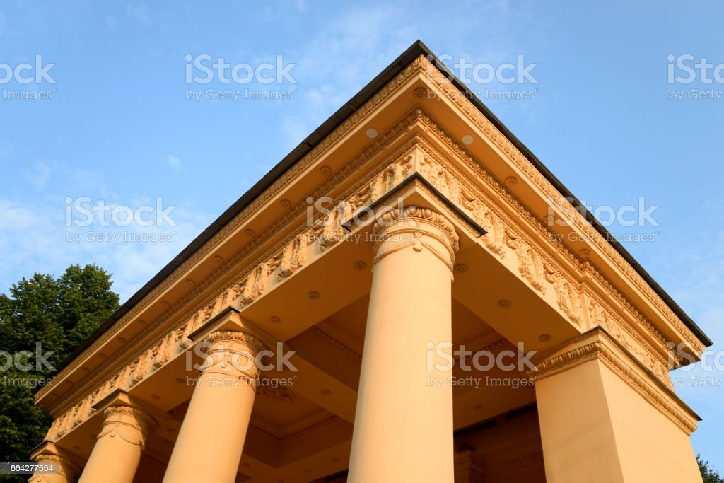Pavilion in neoclassical style in St.Petersburg. stock photo