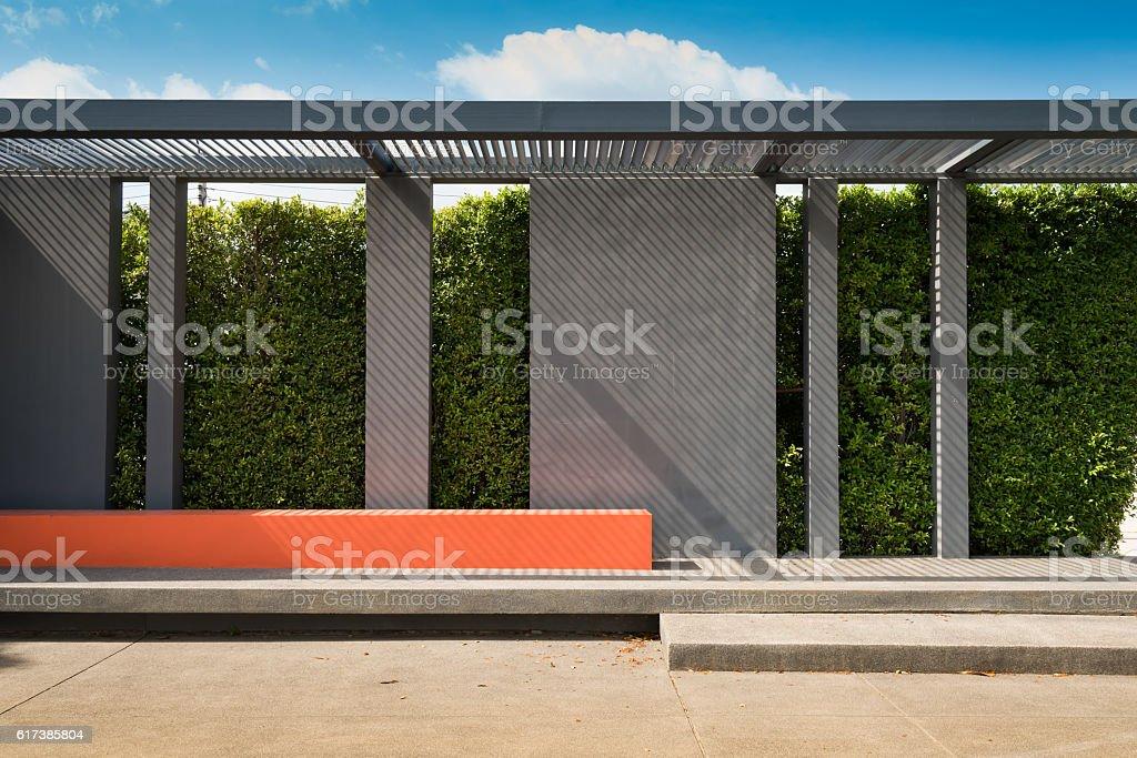 Pavilion in the gaeden. stock photo