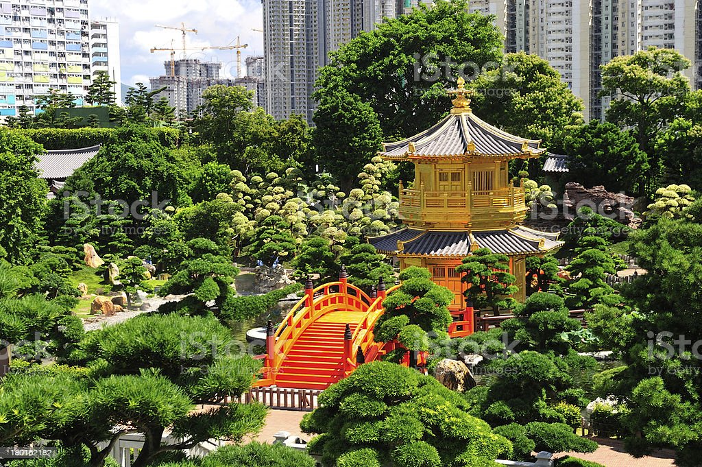 Pavilion of Absolute Perfection in the Nan Lian Garden stock photo