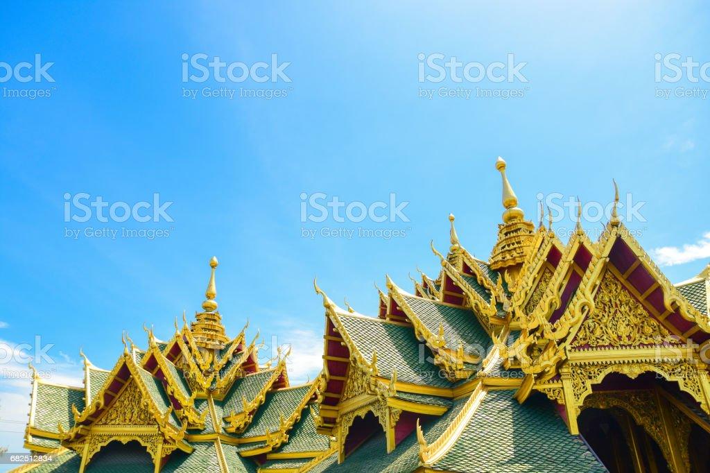 Pabellón de los ilustrados, ciudad de la antigua provincia de Tailandia foto de stock libre de derechos
