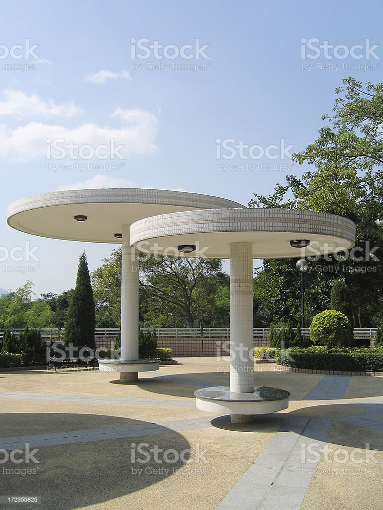 Pavilions royalty-free stock photo
