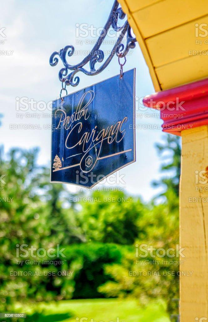 Pavillon Cavignac stock photo