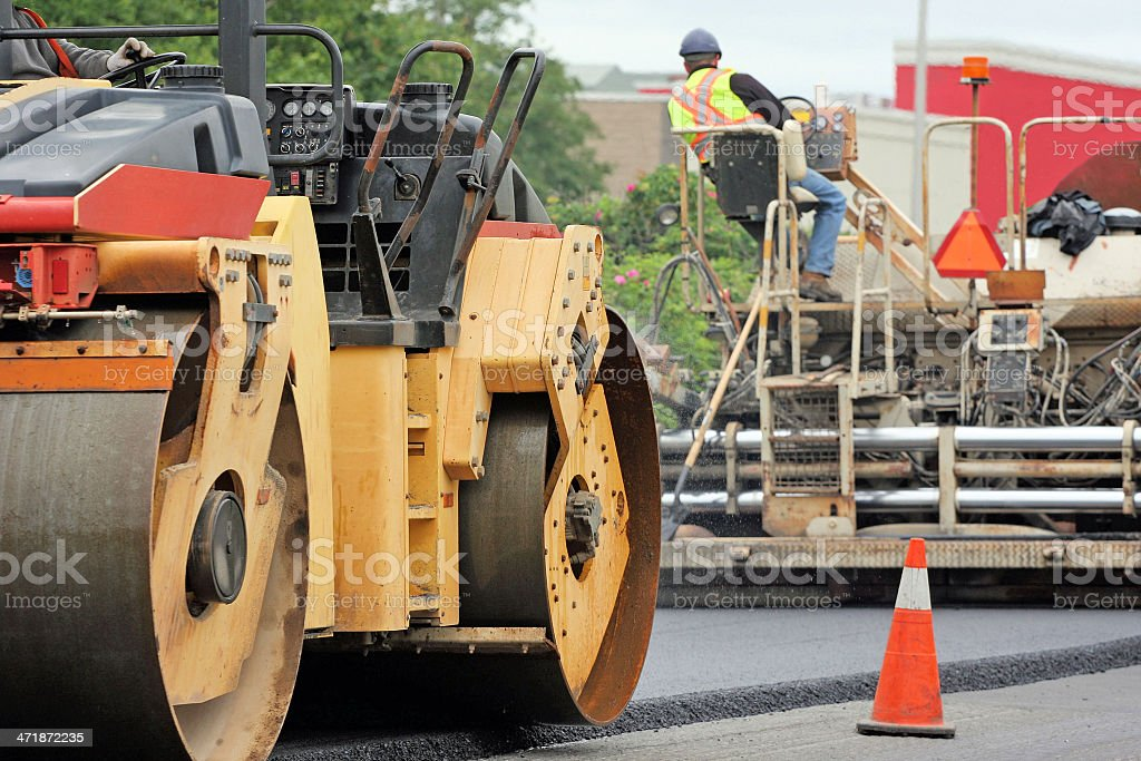 Paving A Road royalty-free stock photo