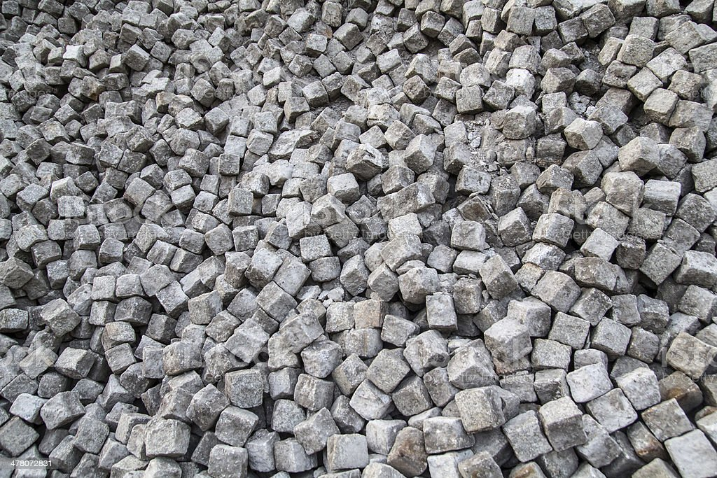 Paving cobblestones stock photo