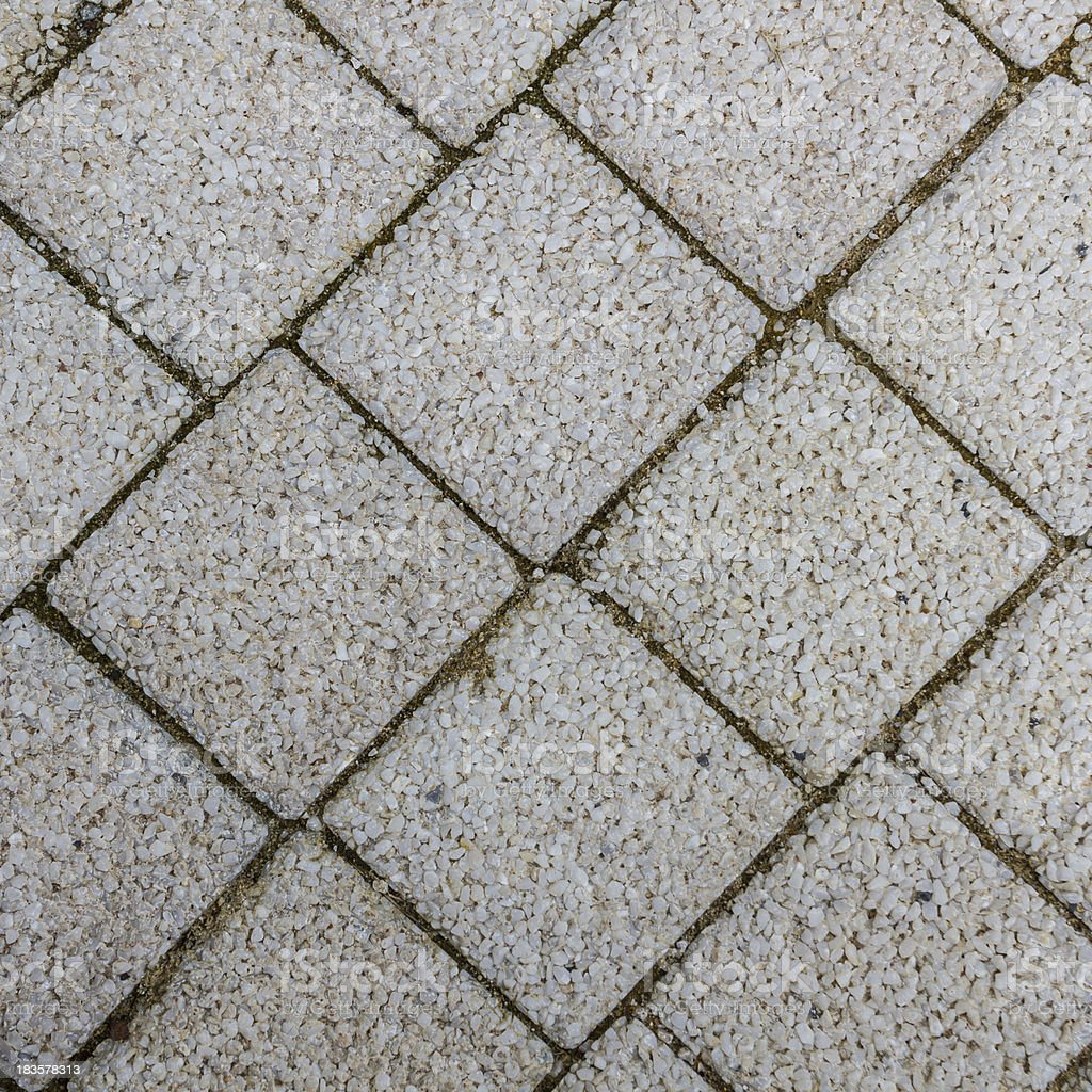 Paving slabs in the form of squares royalty-free stock photo