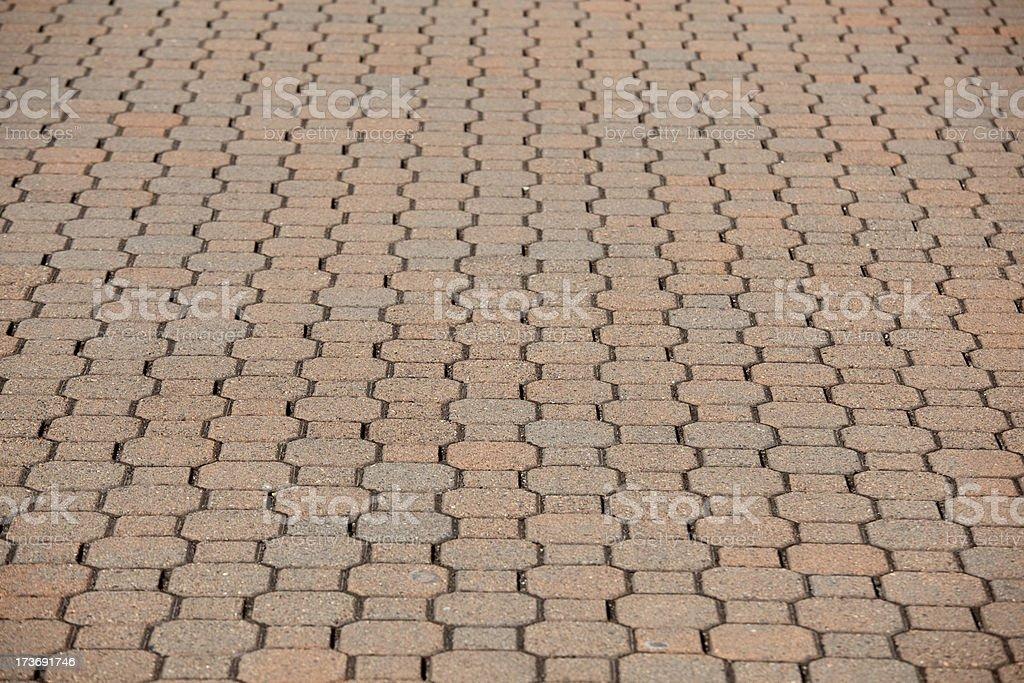 Paving Stone Walkway Sidewalk as background royalty-free stock photo