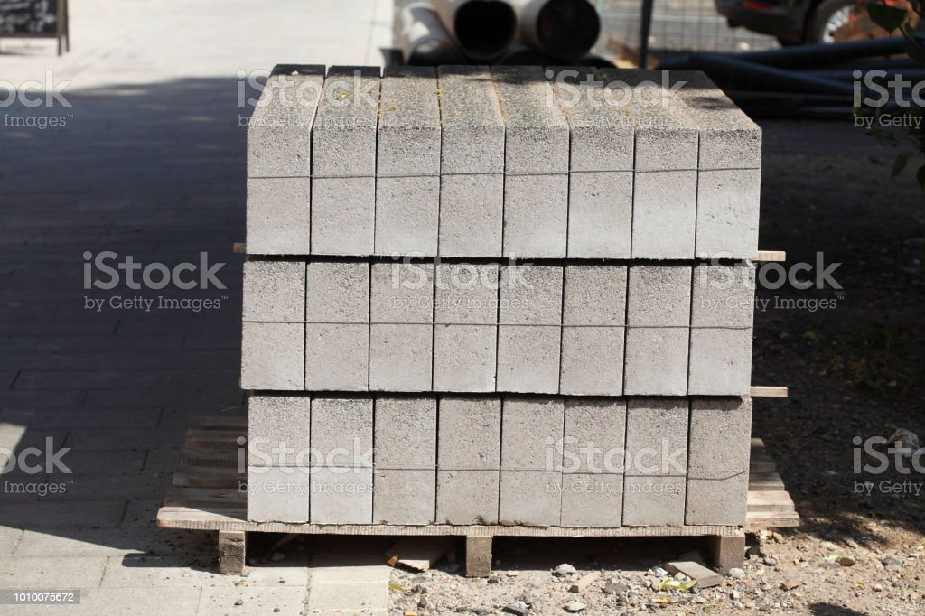 Pflasterrsteine aus Beton stock photo
