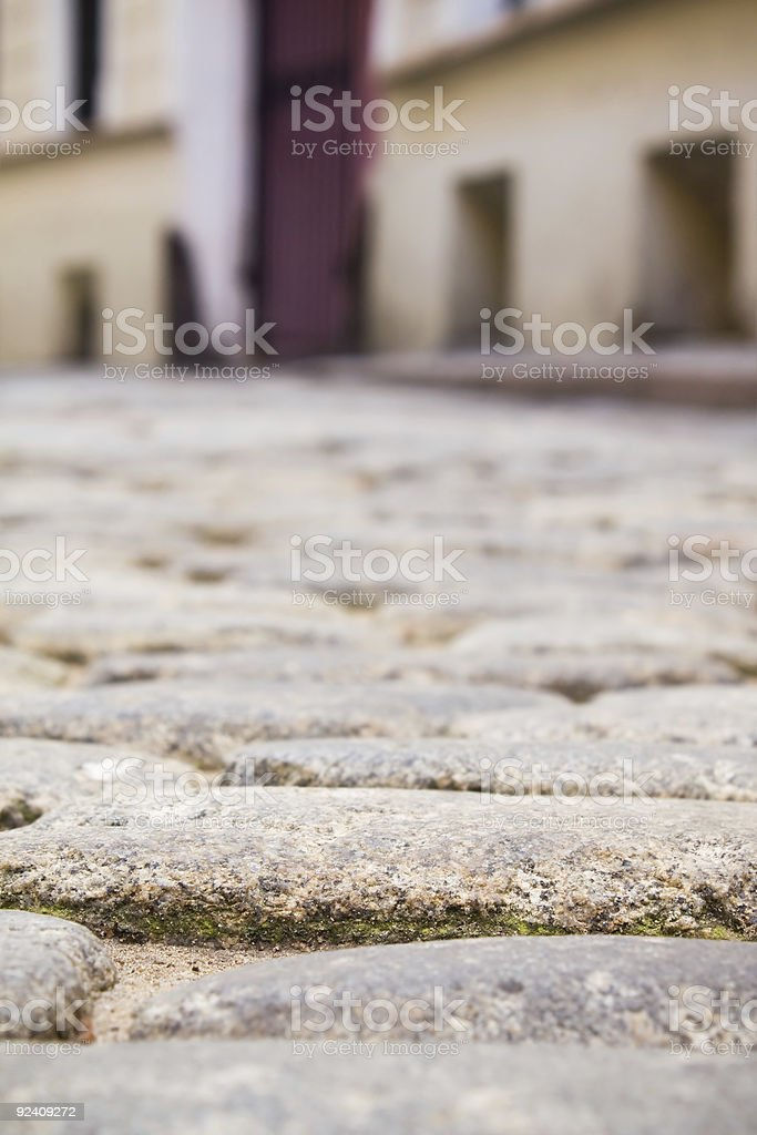 Paving stones. Small street in old town. royalty-free stock photo
