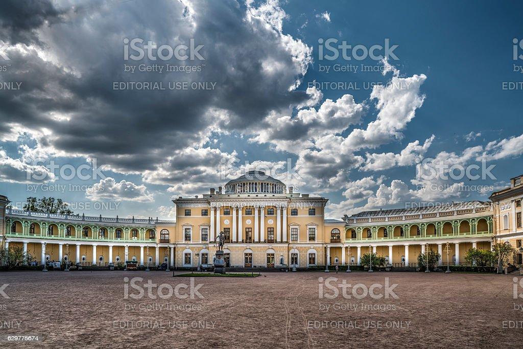 Pavlovsk palace stock photo