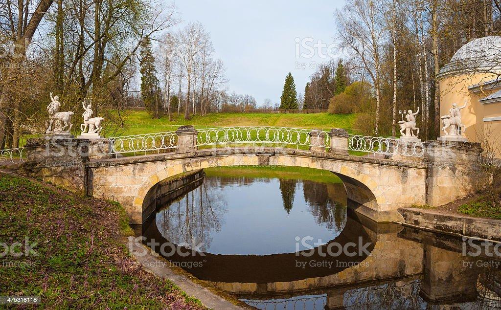 Pavlovsk Park in St. Petersburg stock photo