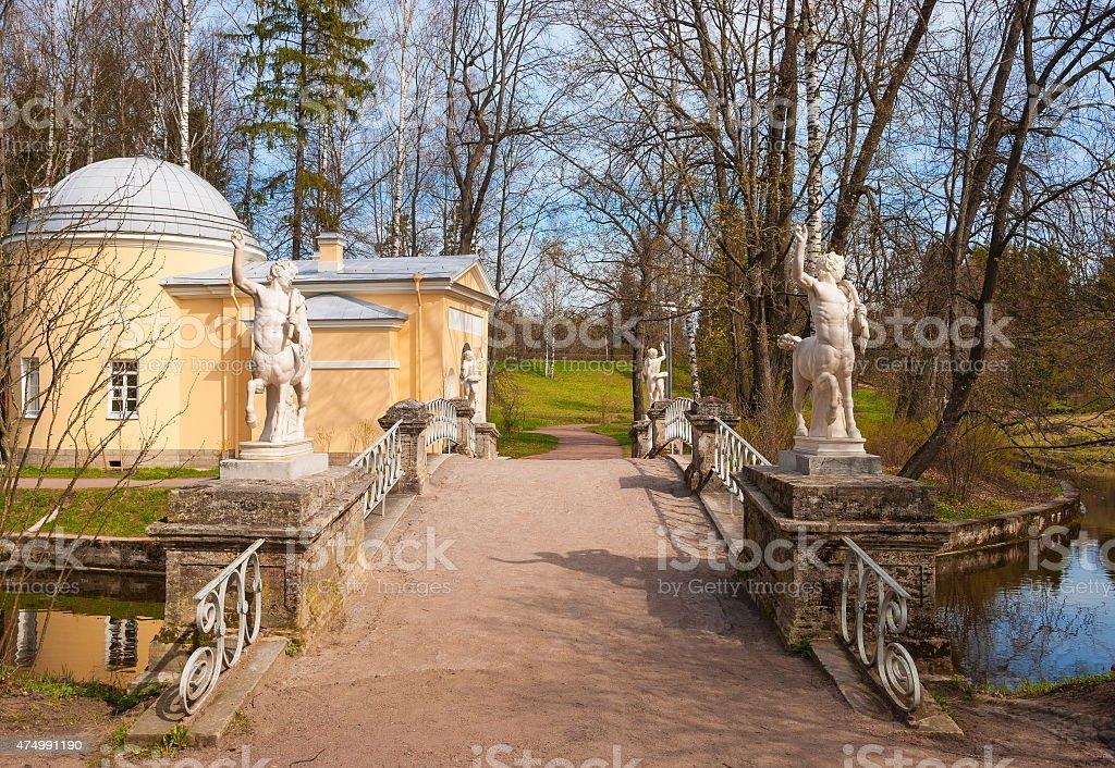 Pavlovsk Park stock photo