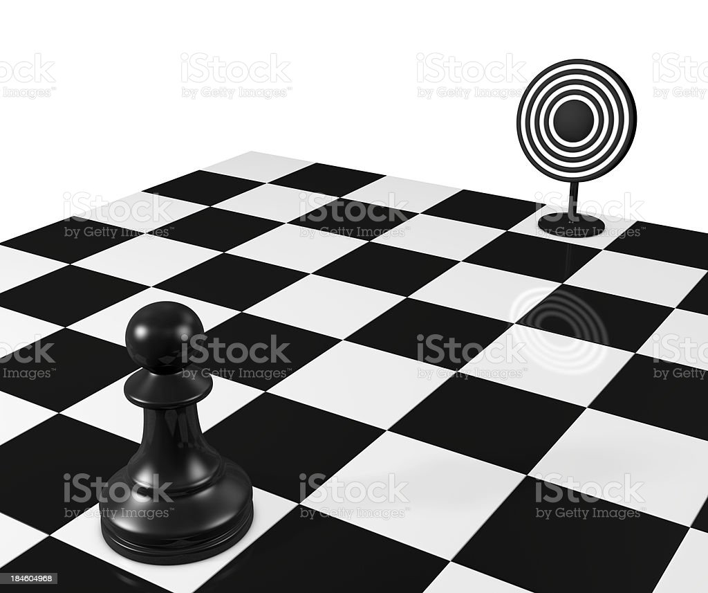 Pawn and target stock photo