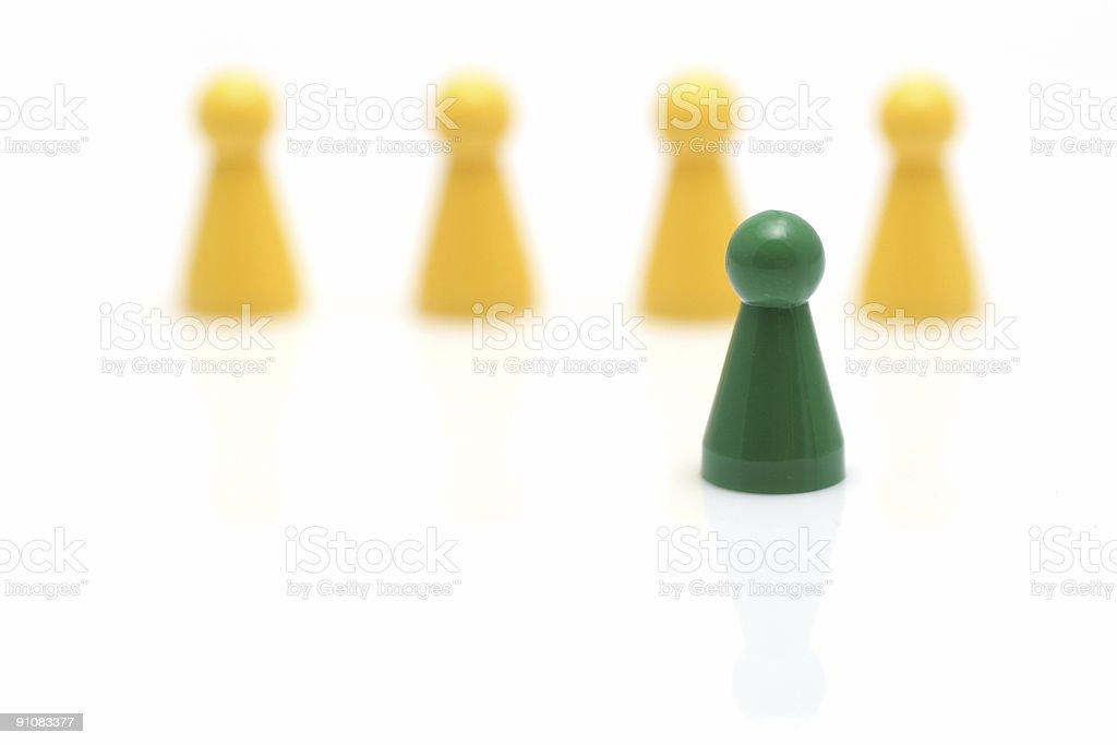 pawn standing out royalty-free stock photo