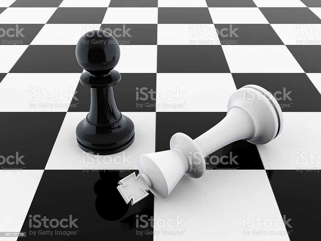 Pawn wins royalty-free stock photo