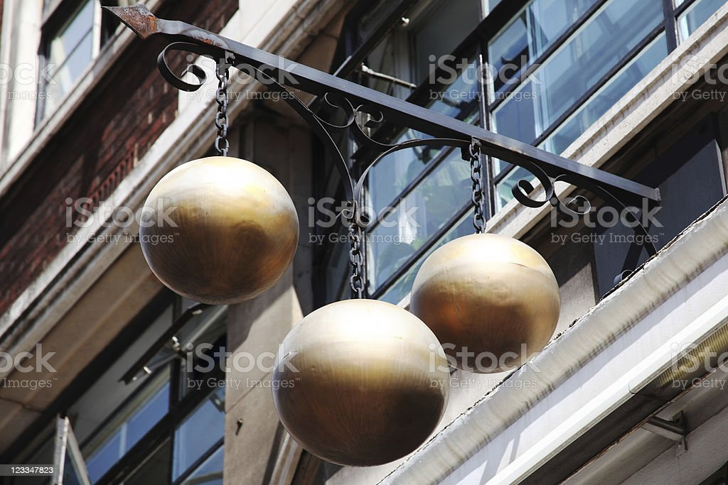 Pawnbroker Sign stock photo
