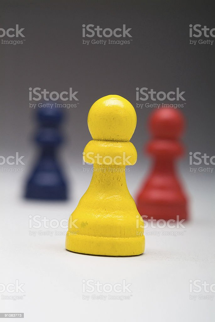 Pawns as Business Men Series stock photo