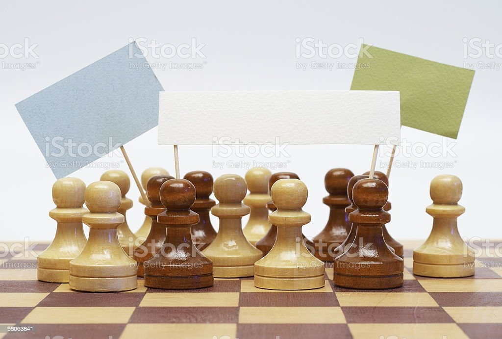 Pawns demonstration royalty-free stock photo