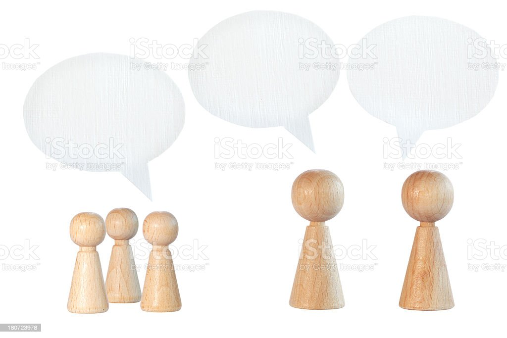 pawns with speech bubbles royalty-free stock photo