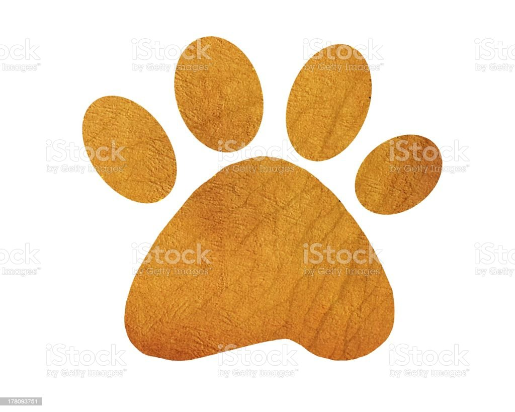 Pawprint stock photo