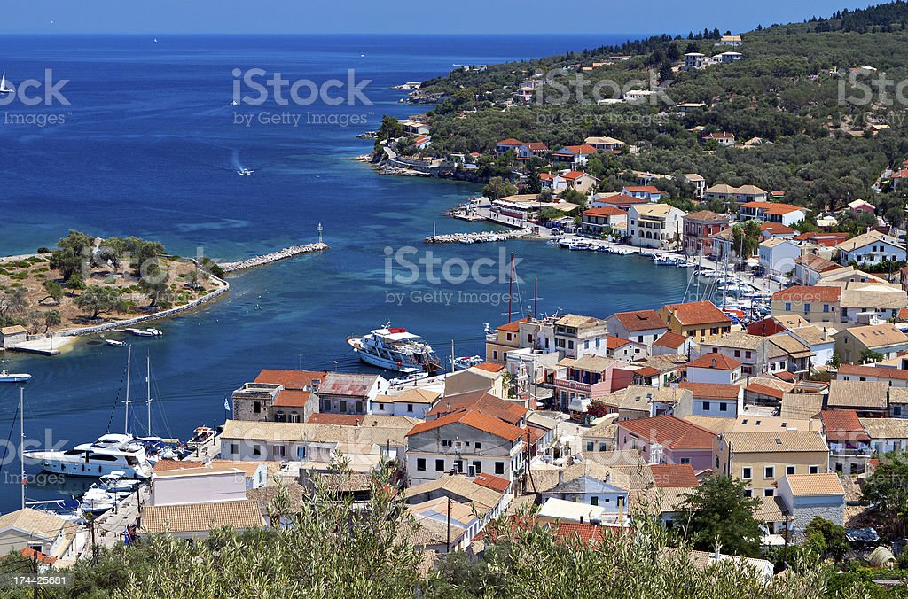 Paxos island in Greece stock photo