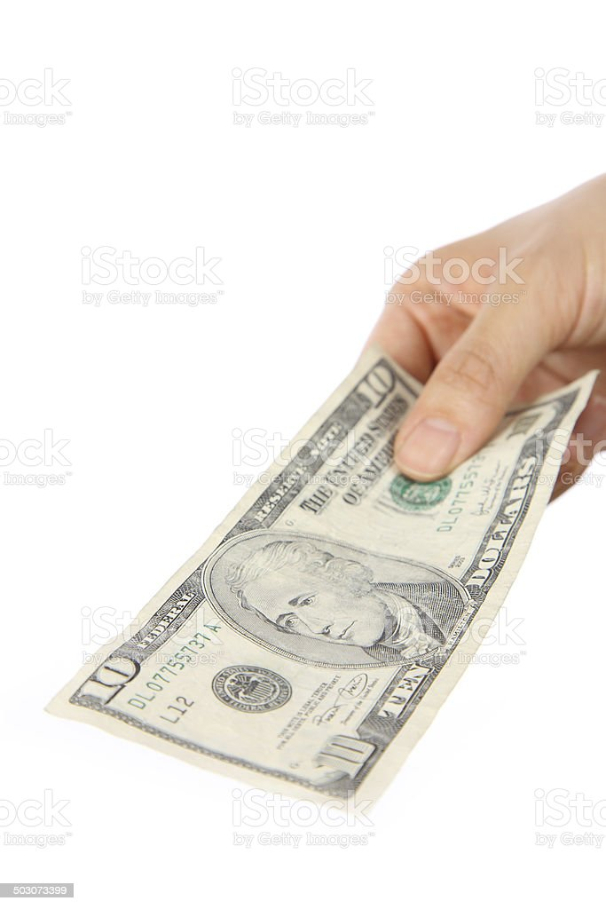 pay a us 10 doller bill stock photo more pictures of backgrounds