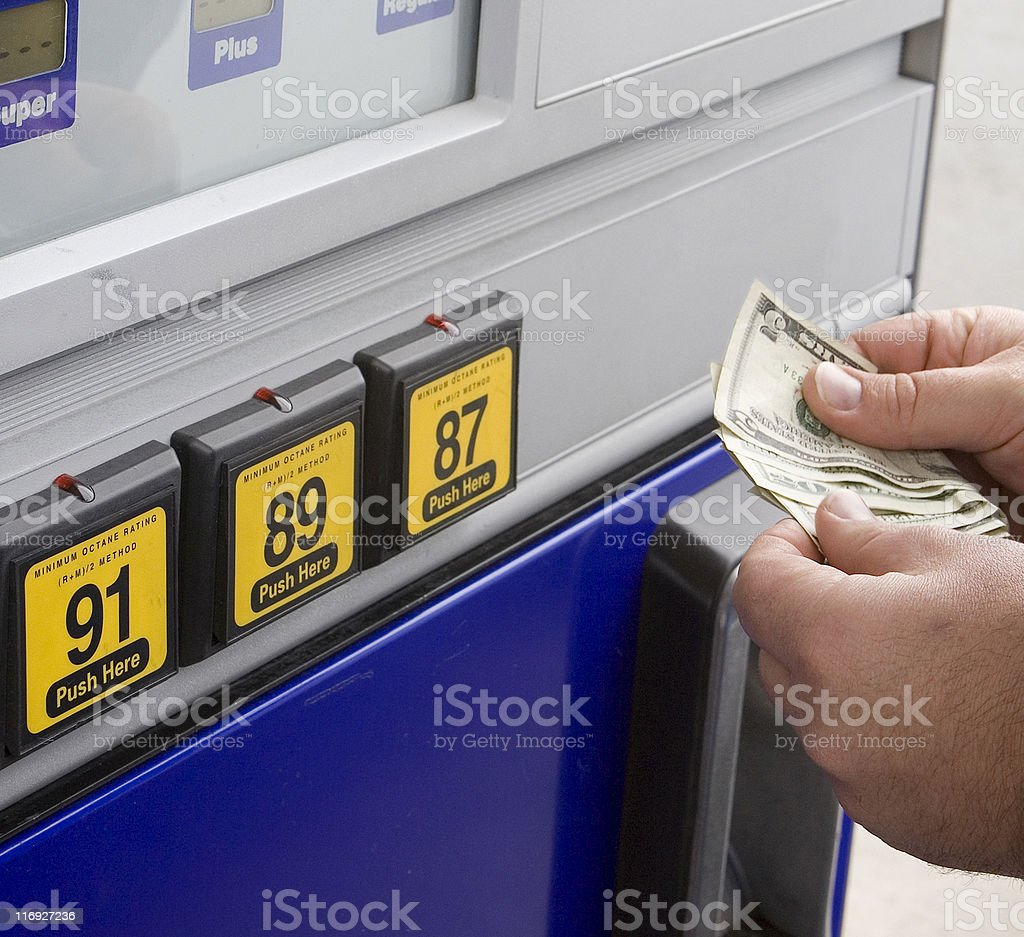 Pay at the Pump stock photo
