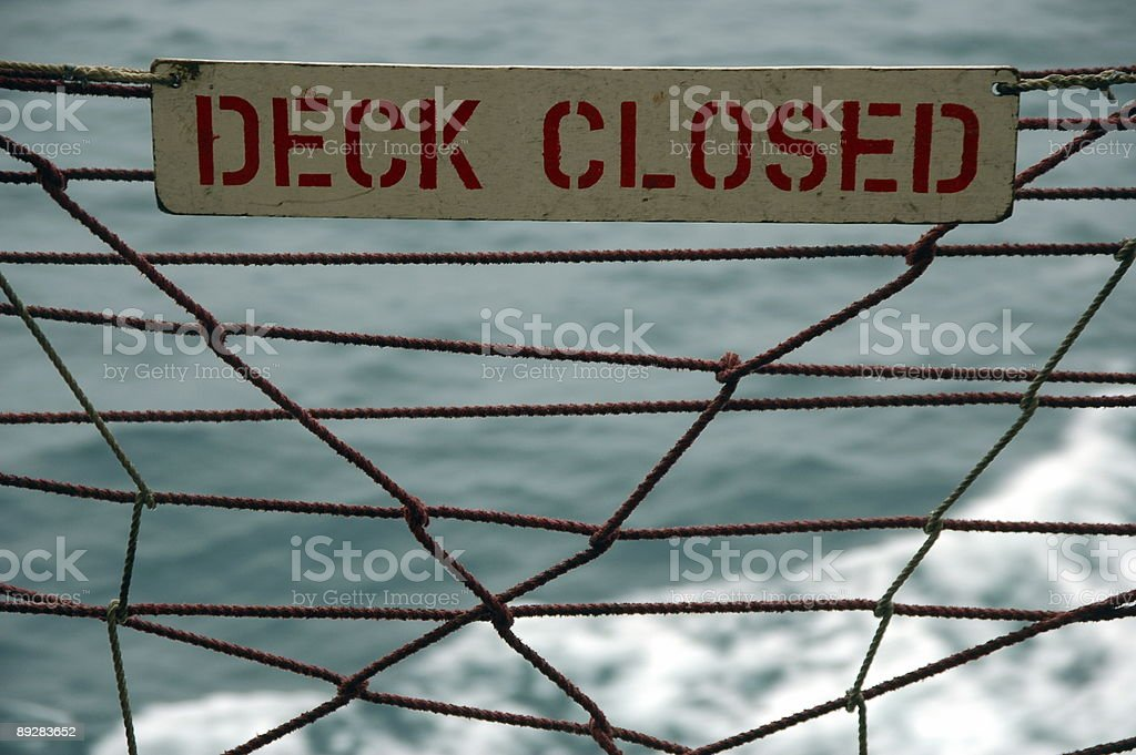 Pay attention - Deck closed stock photo